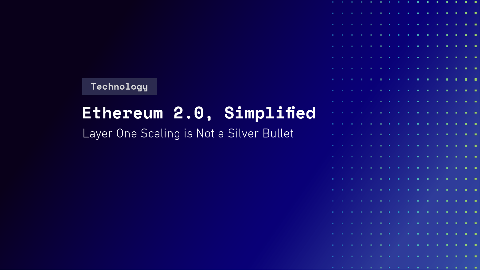 Ethereum 2.0, Simplified