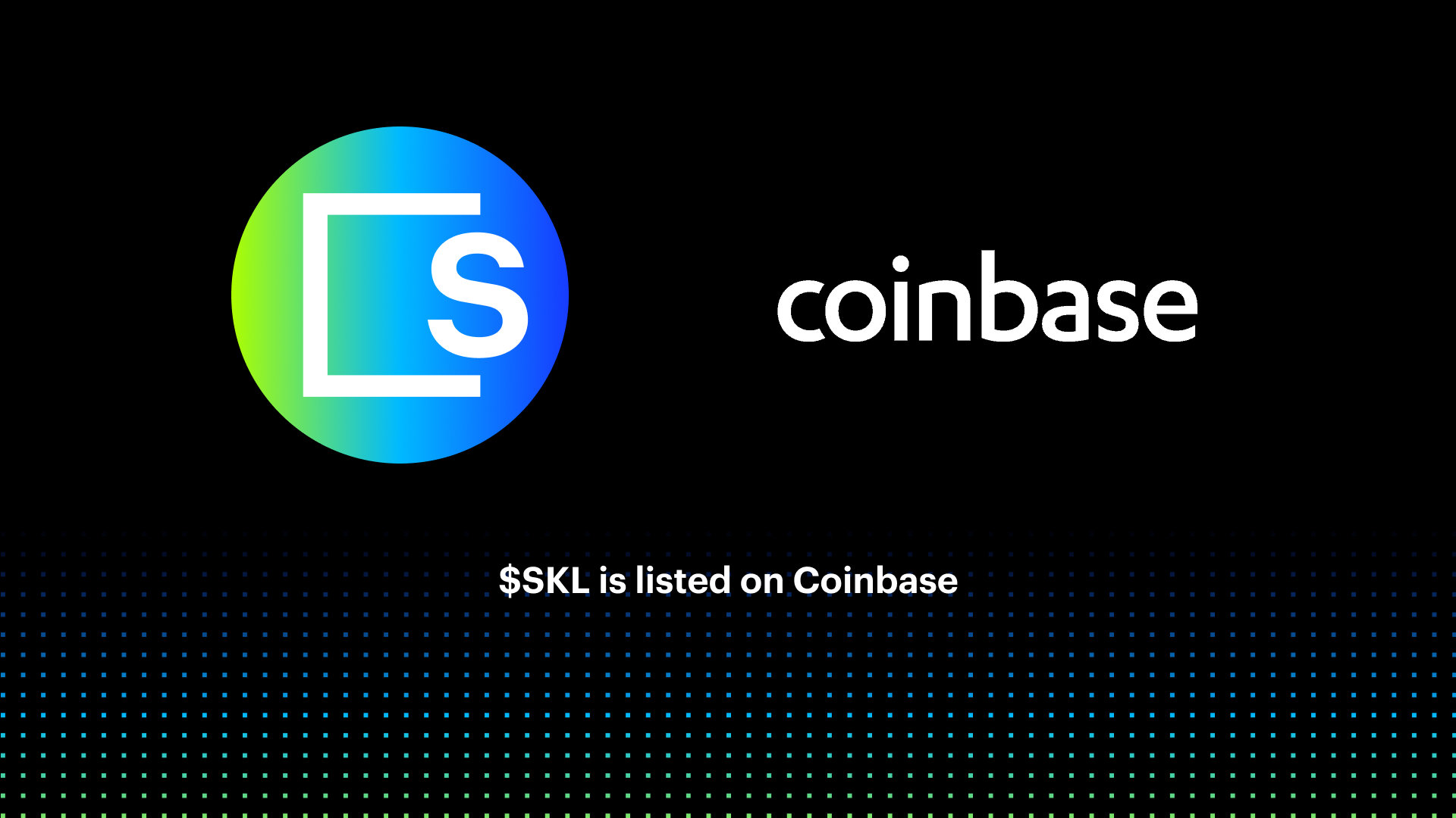 $SKL begins trading on Coinbase