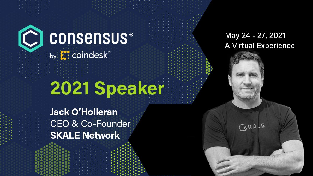 Jack O'Holleran to speak at CoinDesk Consensus Conference