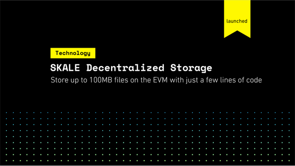 SKALE Decentralized Storage