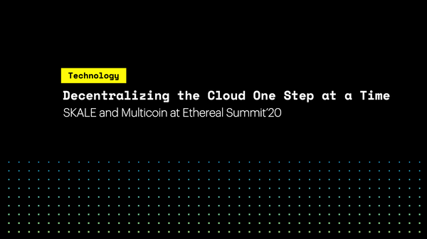 Decentralizing the Cloud, One Step at a Time: SKALE and Multicoin at Ethereal Summit '20