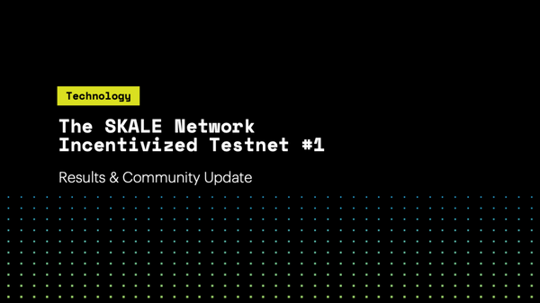 SKALE Incentivized Testnet #1- Results & Community Update