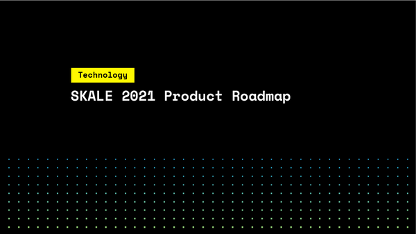 SKALE 2021 Product Roadmap
