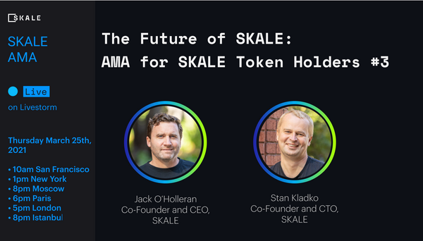 SKALE Token Holders AMA #3