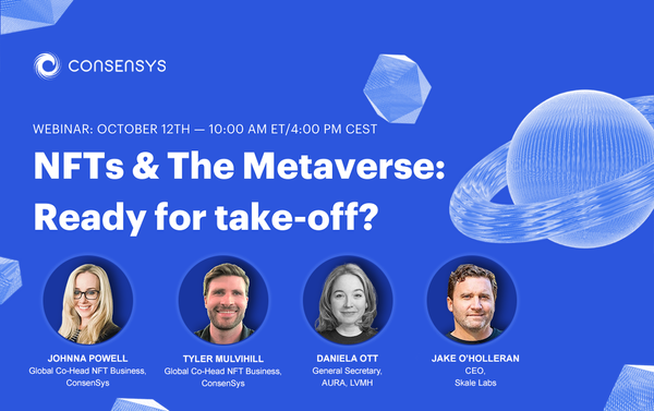 Join Jack, ConsenSys and AURA for a Conversation About NFT's and the Metaverse